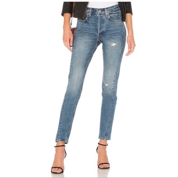 4a9322fa Levi's Jeans   Nwt Levis 501 Altered Skinny Jean Distressed Denim ...